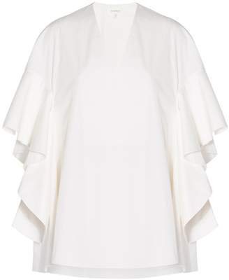 DELPOZO Ruffled Sleeves Top