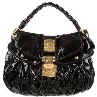 Miu MiuMiu Miu Patent Leather Coffer Bag