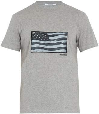Givenchy Cuban-fit USA flag-appliqué cotton T-shirt