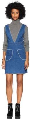 See by Chloe V-Neck Dress with White Stitch Women's Dress