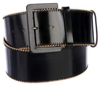 Oscar de la Renta Leather Wide Belt