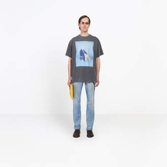 Balenciaga Campaign photo printed regular T-shirt