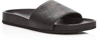 Vince Women's Gavin Leather Pool Slide Sandals