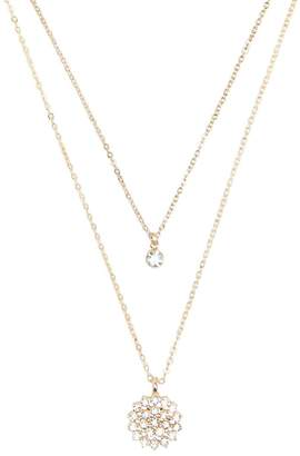 Forever 21 Rhinestone Pendant Necklace Set
