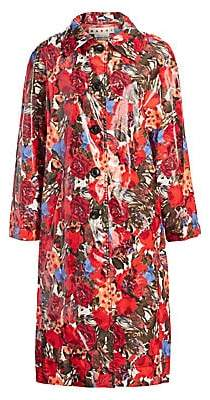 Marni Women's Coated Cotton Floral Coat