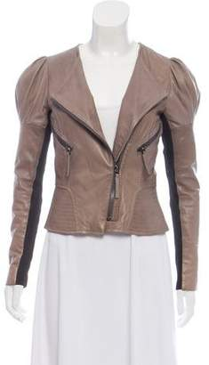 Barbara Bui Leather Crop Jacket