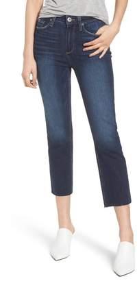Paige Hoxton High Waist Crop Straight Leg Jeans