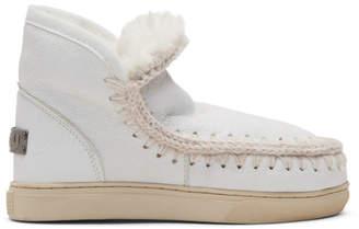 Mou White Mini Eskimo Sneaker Boots