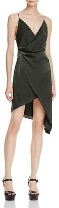 Style Stalker Stylestalker Trinity Faux-Wrap Slip Dress