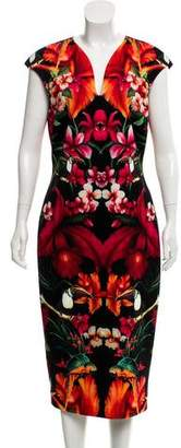 Ted Baker Printed Midi Dress w/ Tags