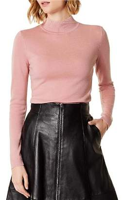 Karen Millen Wool Mock-Neck Sweater