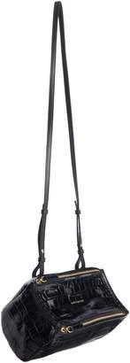Givenchy Mini Pandora Croc Embossed Leather Shoulder Bag
