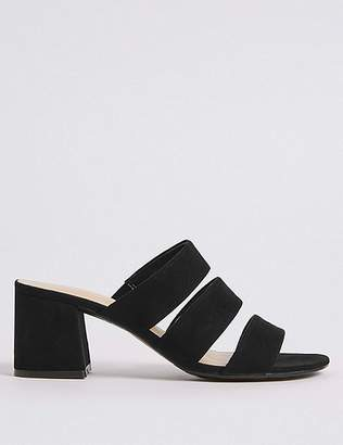 Marks and Spencer Block Heel Multi Strap Mule Sandals