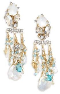 Alexis Bittar Alexis Bittar Elements Multi-Crystal Chandelier Earrings
