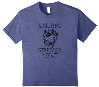 Adulting Stresses Meowt Funny Cat Lovers T-Shirt