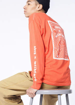 Obey x WF Salvage LS Tee | Wildfang x WF Salvage LS Tee - POPPY - XSMALL