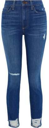 Alice + Olivia Good Distressed High-rise Skinny Jeans