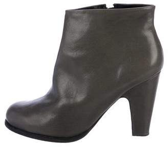 Rachel Comey Leather Round-Toe Booties