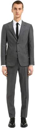 Z Zegna Tropical Thick & Thin Wool Silk Suit