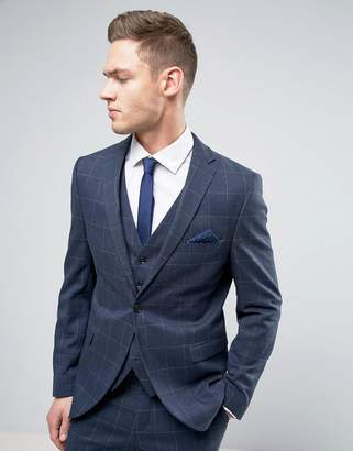 Selected Slim Suit Jacket In Window Pane Check