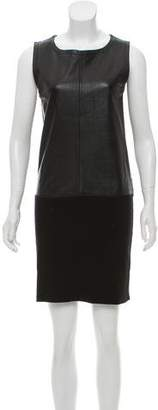Diane von Furstenberg Dinah Leather Paneled Dress
