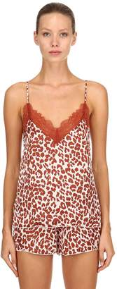 Love Stories Leopard Print Pajama Tank Top