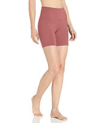 "Core 10 Women's All Day Comfort High Waist Yoga Short Side Pockets - 5"""