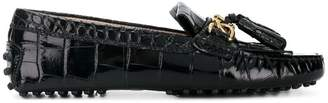 Tod's crocodile loafers