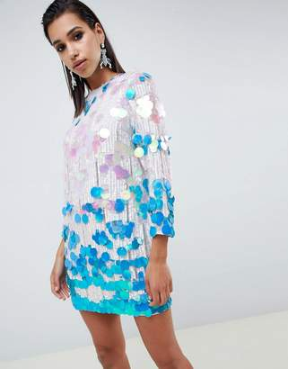 Asos Edition EDITION disc sequin shift dress