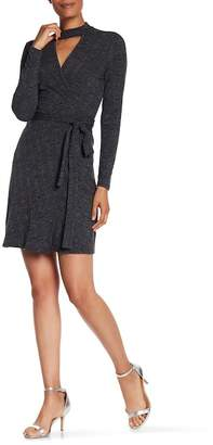 Laundry by Shelli Segal Rib Knit Wrap Dress