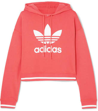 adidas Ai Cropped Printed Cotton-blend Jersey Hoodie