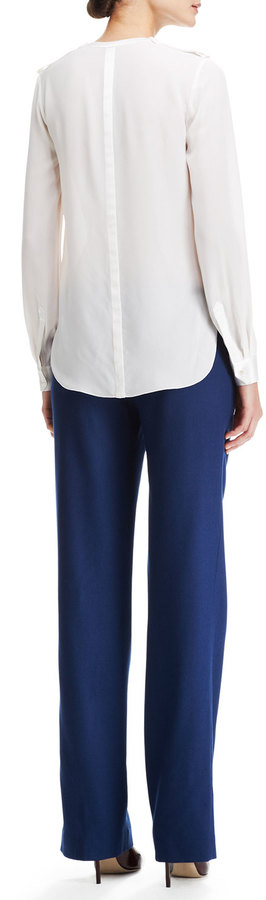 ADAM by Adam Lippes Permanent-Creased Wool Trousers