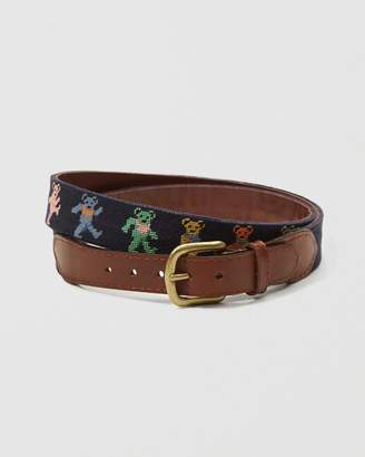 Abercrombie & Fitch Smathers & Branson Dancing Bears Needlepoint Belt