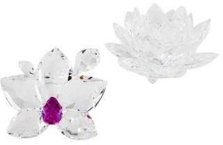 Swarovski 2-Piece Crystal Floral Decor Set