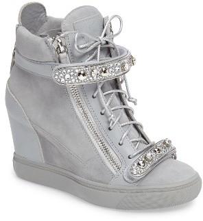 Women's Giuseppe For Jennifer Lopez Tiana Hidden Wedge Sneaker $1,395 thestylecure.com