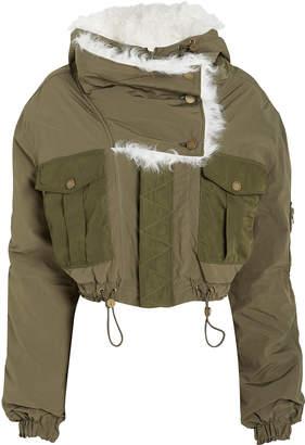 Monse Fur-Trimmed Bomber Jacket