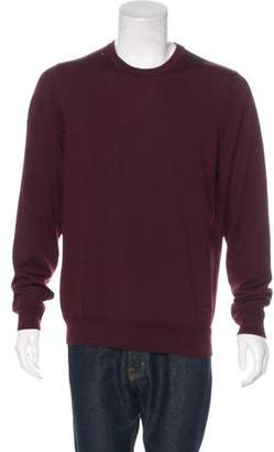 Louis Vuitton Wool & Silk Leather-Trimmed Sweater