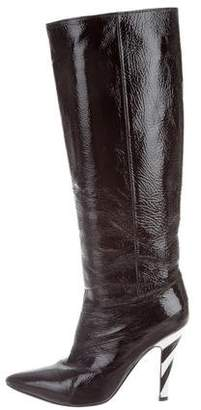 Sigerson Morrison Patent Leather Knee-High Boots