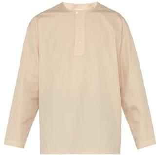 Lemaire Henley Cotton Shirt - Mens - Nude