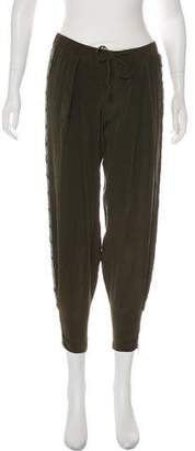 Haute Hippie Silk Embellished Mid-Rise Pants w/ Tags