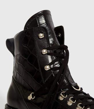 AllSaints Franka Crocodile Boots