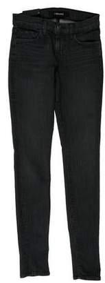 J Brand Striped Mid-Rise Jeans