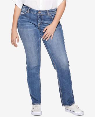 Silver Jeans Co. Plus Size Suki Stretch Straight Jeans