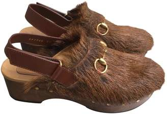Gucci Pony-style calfskin mules & clogs