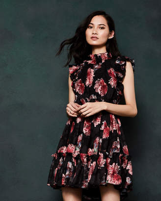 0089dfe3fd46bf at Ted Baker · Ted Baker FALLONN Tranquility ruffle dress
