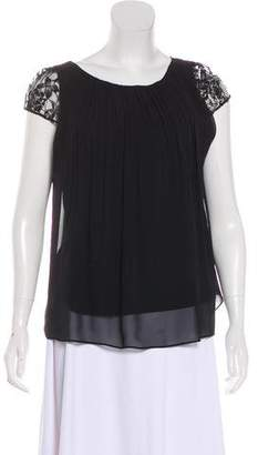 Alice + Olivia Lace Panel Top