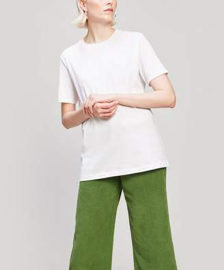 Acne Studios Ellison Face Patch Long Cotton T-Shirt