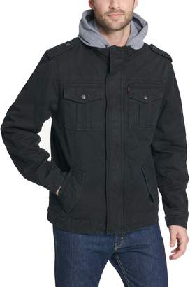 Levi's Levis Men's Hooded Military Trucker Jacket