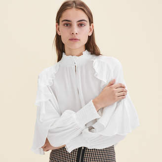 Maje Floaty frilled blouse