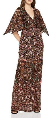 BCBGeneration Mixed-Print Tiered Maxi Dress